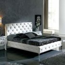 Modern Leather Nelly Platform King Bed White