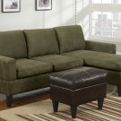 Microfiber Sectional Sofa Fusion Style Sage