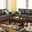 Leather Sofa and Loveseat Set Bradington Style Brown