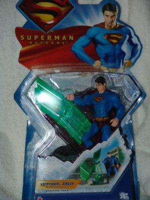 Kryptonite Smash Superman Action Figure *By Mattel* New