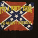 Battle flag tee,...It's a white thing...""