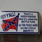 Battle flag sticker