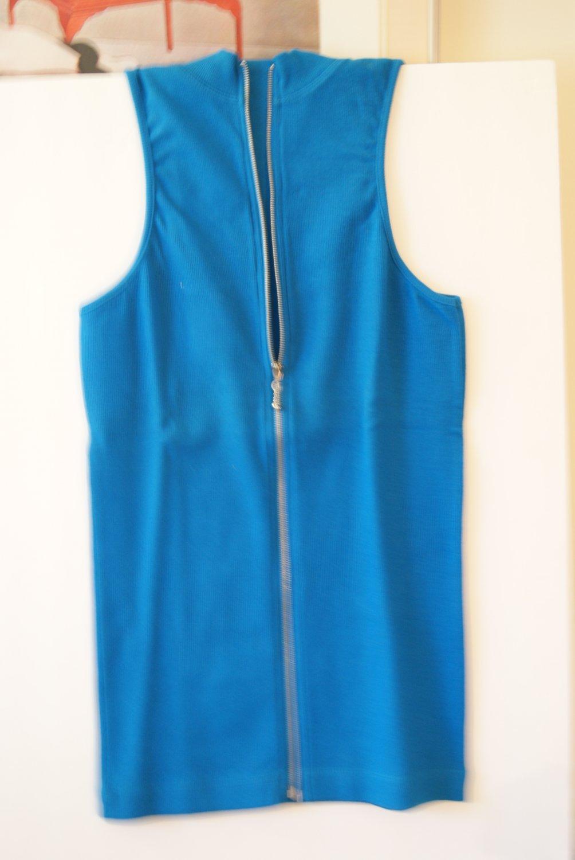 Blue zip up top
