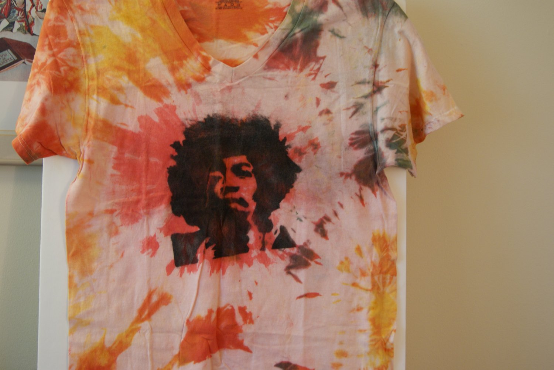 Jimi Hendrix tie dye tee