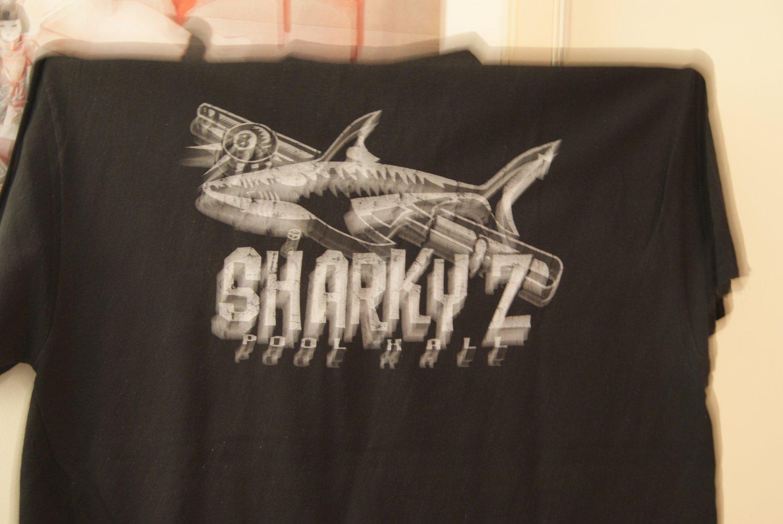 SHARKY'Z pool hall tee