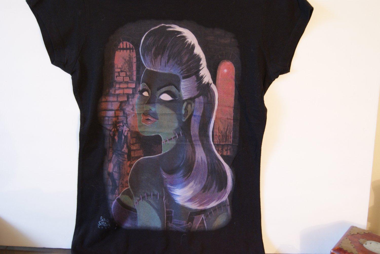 Frankenstein girl tee