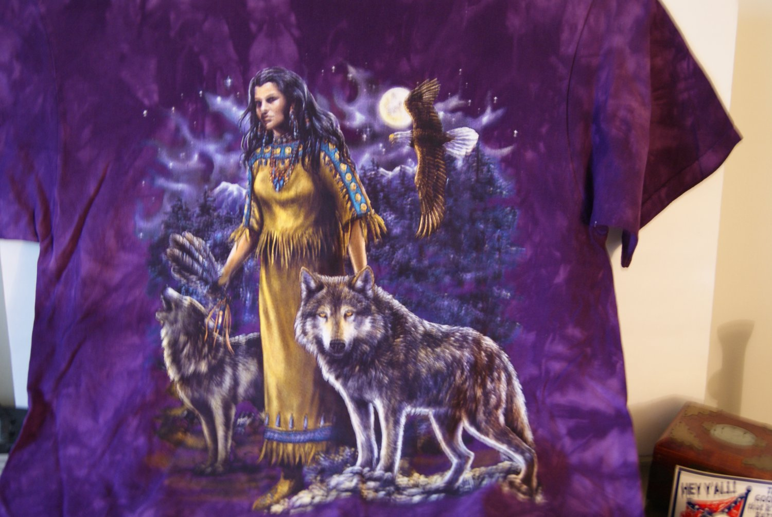 Indian with wolves tee