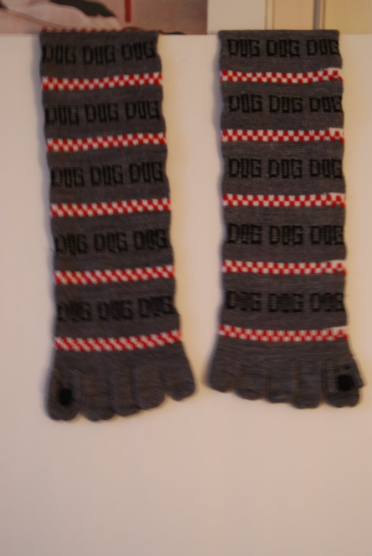 Toe socks 'dog'