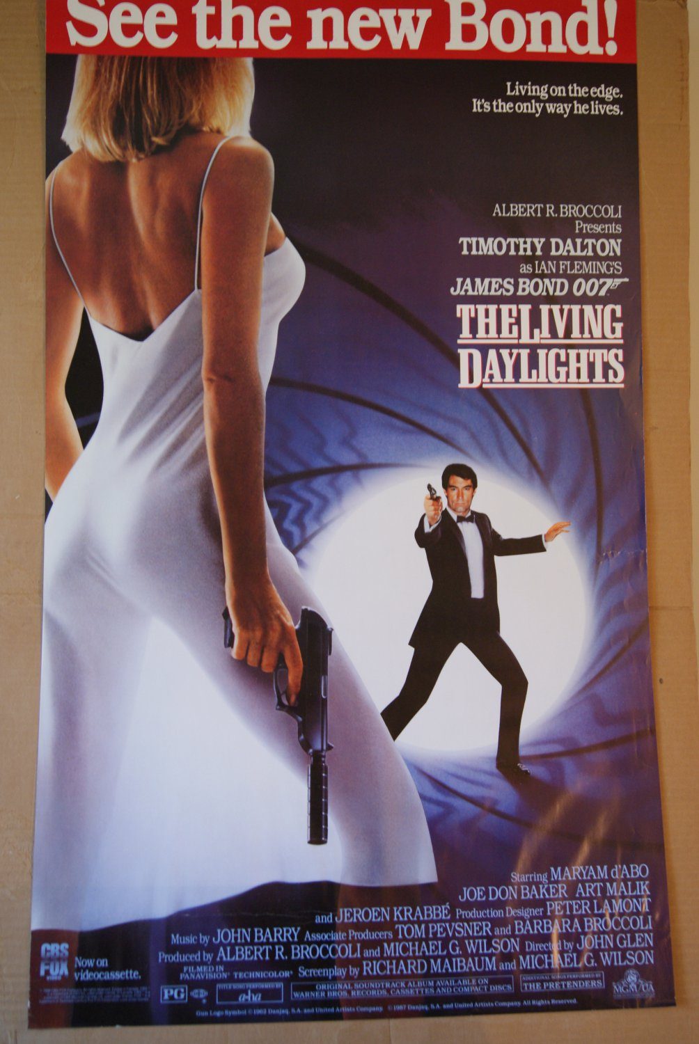 The living Daylights Movie poster / video release