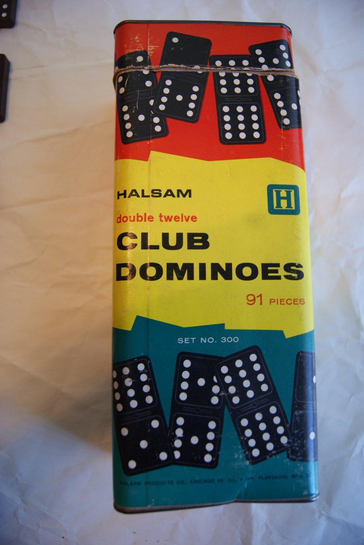 Halsam double twelve club dominoes