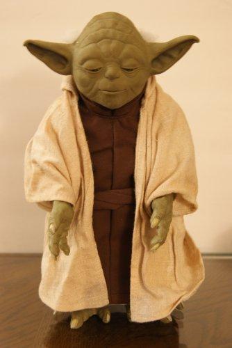Yoda animatronic figure.
