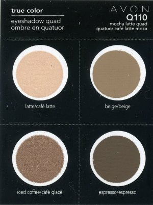 Avon Sample Eye Shadow Quad-Mocha Latte Q110