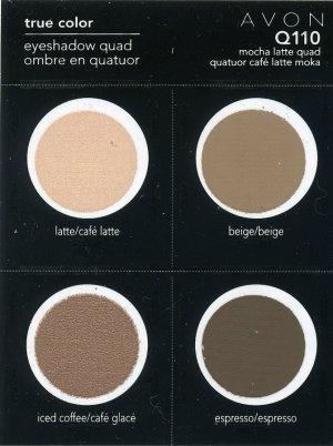Avon Sample Eye Shadow Quad-Mocha Latte Q110