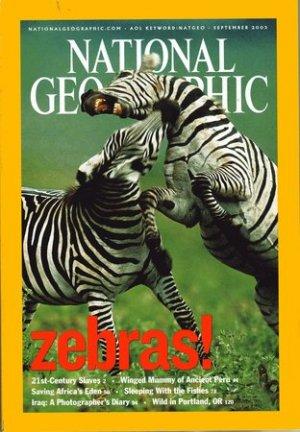 National Geographic Septemeber 2003-Zebras!