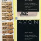 Avons Ideal Shade Liquid Foundation Sample-Medium Beige
