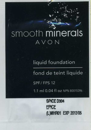 Smooth Minerals  Foundation Sample SPF 12-Nutmeg!