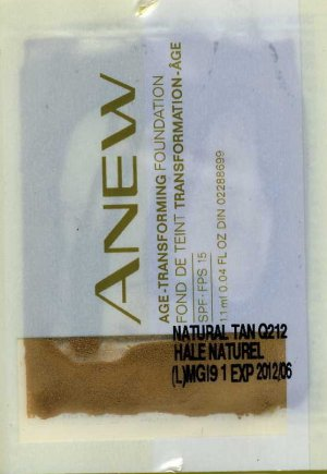 Anew Age-Transforming Foundation Sample SPF 15-Nutmeg!