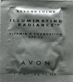 Avon Illuminating Radiance Foundation Sample SPF 12-Blush Beige!