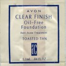 Avon Clear Finish Oil-Free Foundation Sample-Toasted Tan!