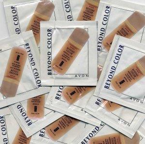 Avons Beyond Color Vertical Lift Liquid Foundation Sample-Deep Tan!