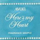 Avon Fragrance Sample-Here's My Heart!
