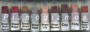 Avon Sample Ultra Color Rich Renewable Lipstick SPF 15 -Sheer Lily!