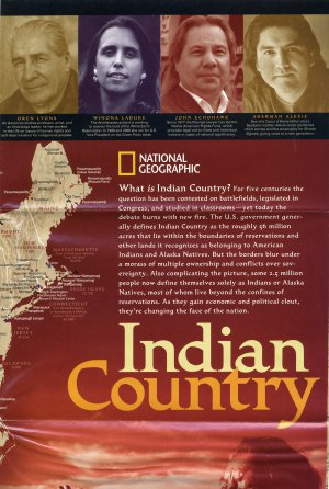 National Geographic Map September 2004-Indian Country
