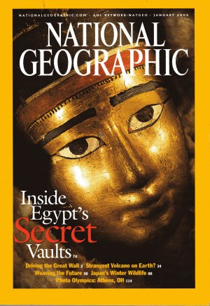 Back issue of National Geographic January 2003 Inside Egypt's Secret Vaults