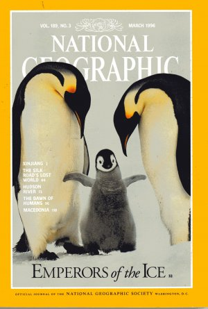 National Geographic Magazine March 1996-Emperors On Ice