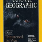 National Geographic October 1995-Threatened By War-Mountain Gorillias of Africa