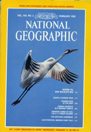 National Geographic February 1981-Where Oil And Wildlife Mix + *Double Map Supplement