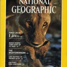 National Geographic December 1982 Family Of Lions + *Double Map Supplement