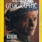 National Geographic August 1992- Struggling Of The Kurds + *Plus  Double Map Supplement