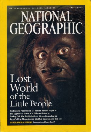 National Geographic April 2005 - fold-out tsunami risk map, Civil War map + article