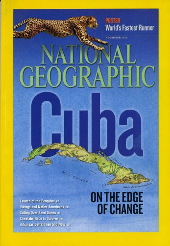 National Geographic Magazine~November 2012~Cuba~Cheetah Poster