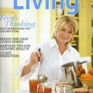 Martha Stewart Living January 2009 Magazine -Fresh Thinking for the New Year