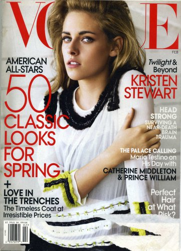 VOGUE MAGAZINE February 2011 Kristen Stewart ,Spring fashion ,Maggie Gyllenhaal