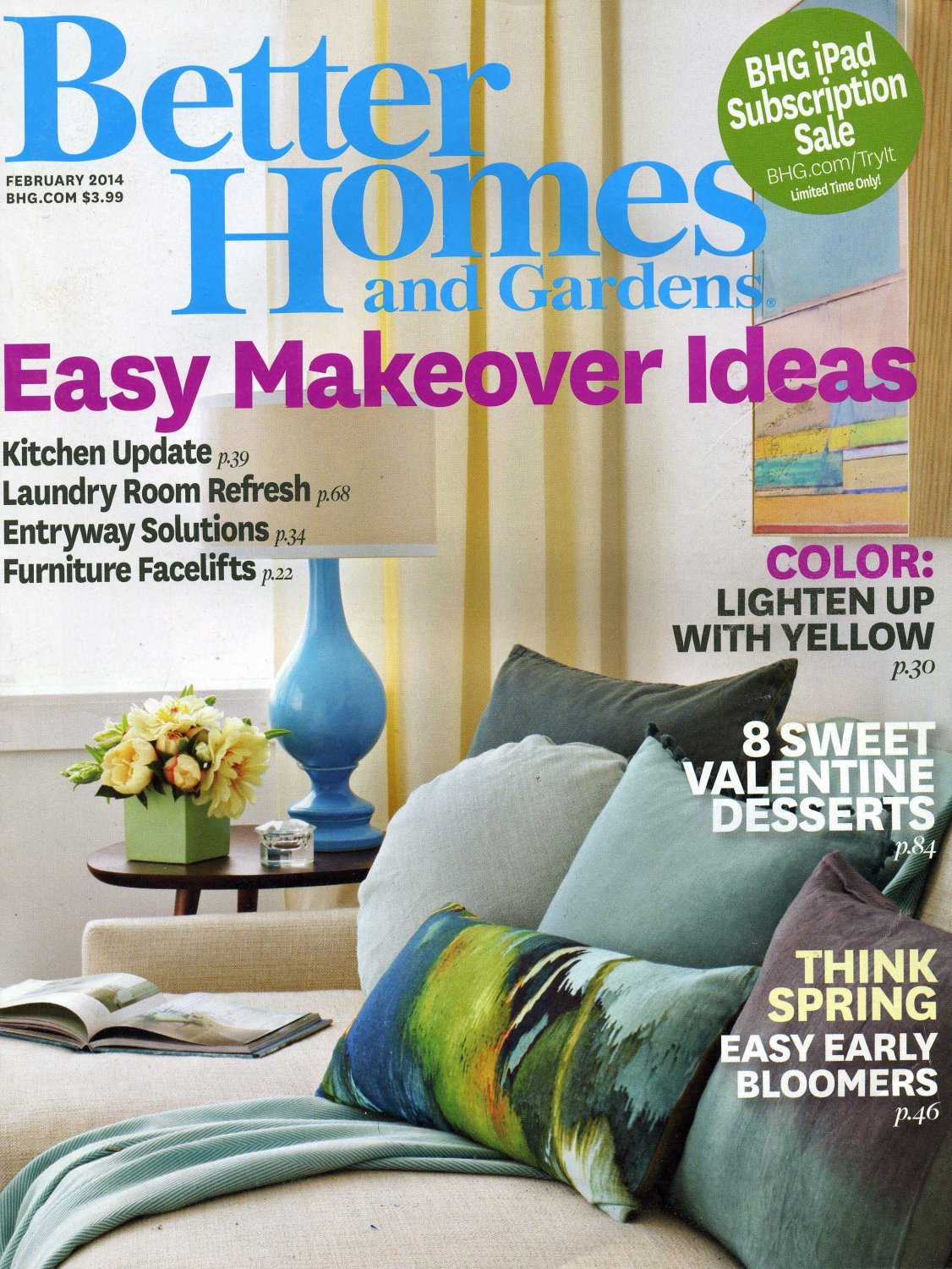 Better homes and gardens february 2014 for Better homes and gardens tv show contact