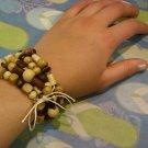Handmade Natural Wood Elements Bracelet