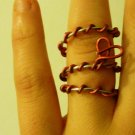 Candy Cane Heart Charm ring