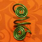Emerald Green Twin Spiral Ring