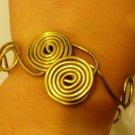 Golden Double-Spiral bracelet