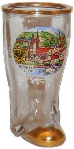 Boot Boppard Rhein Jigger Shot Glass Schnapps Glasses