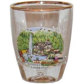 Schloss Castle Linderhof Jigger Shot Glass Schnapps Glasses