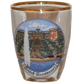 Europe Schloss Ganssouci Castle Shot Glass Schnapps Glasses