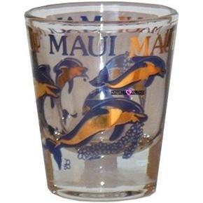 Maui Dolphins Hawaiian Hawaii Shot Glass Schnapps Glasses