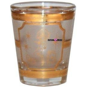 Las Vegas Show Girl Gold Shot Glass Schnapps Glasses