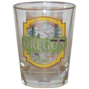 Oregon Mountains Shot Glass Schnapps Glasses