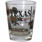 Texas Lone Star Alamo Longhorn Shot Glass Schnapps Glasses