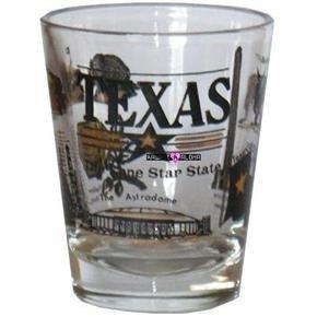 Texas Lone Star Alamo Longhorn Shot Glass Schnapps Glasses